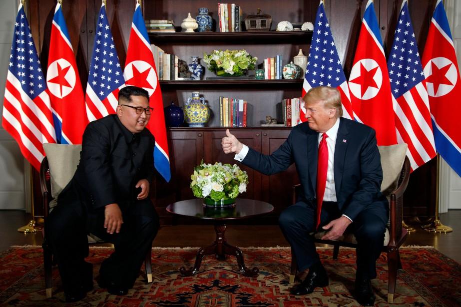 Kim Jong-un et Donald Trump... (Photo Evan Vucci, archives Associated Press)