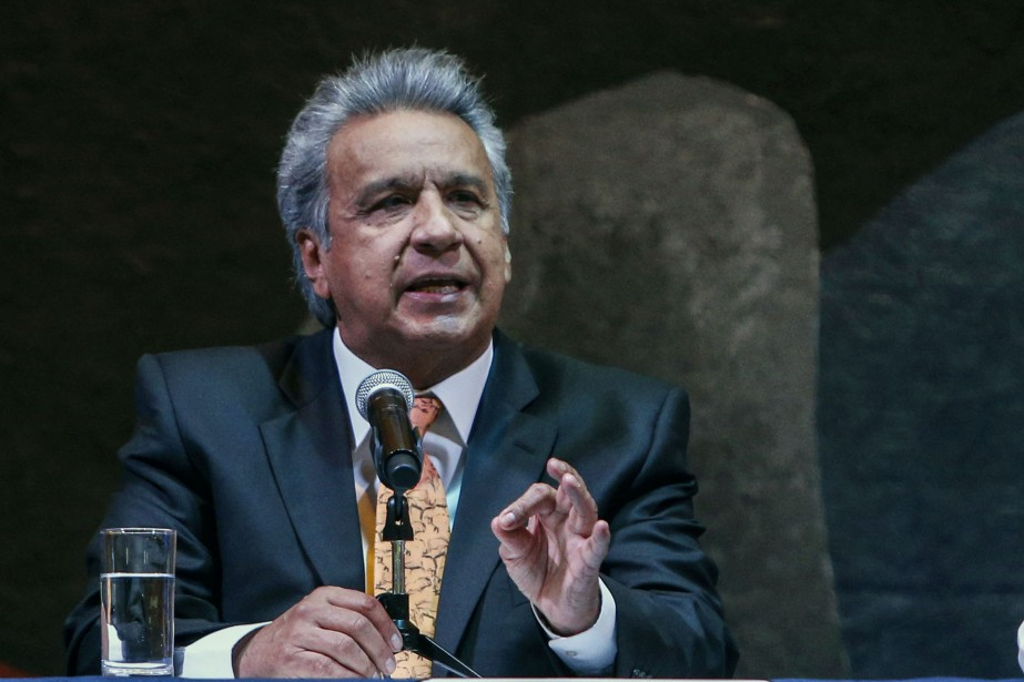 Le président Lenin Moreno.... (Photo CRISTINA VEGA, archives AFP)