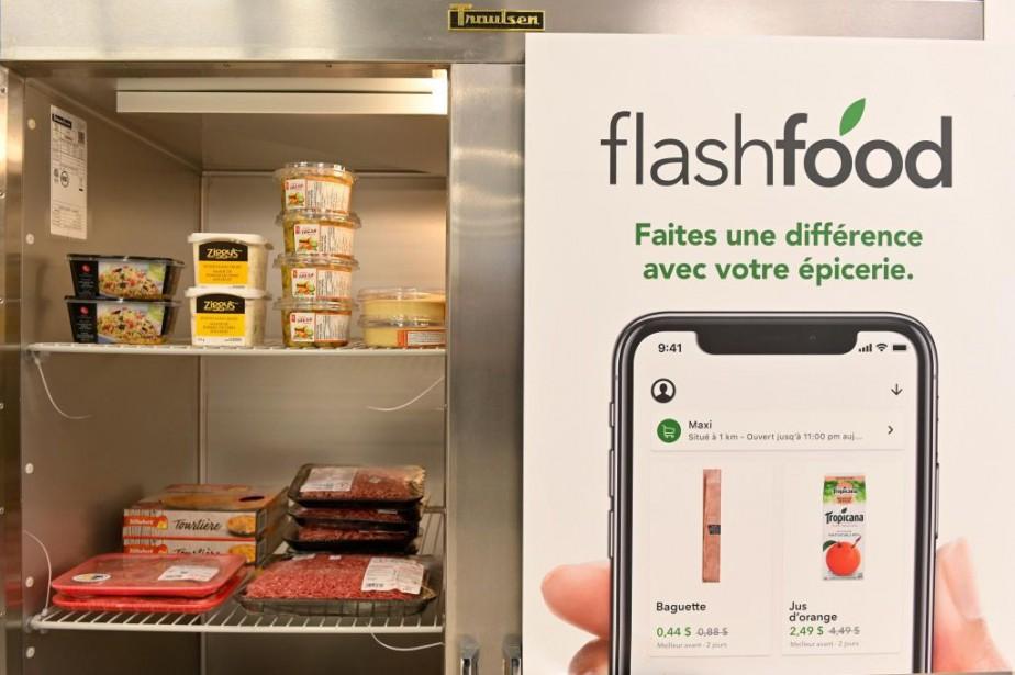 L'application Flashfood, née en Ontario en 2016, permet... (Photo Bernard Brault, La Presse)
