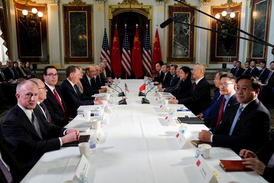 Ces négociations à haut niveau font suite à... (Photo JOSHUA ROBERTS, REUTERS)