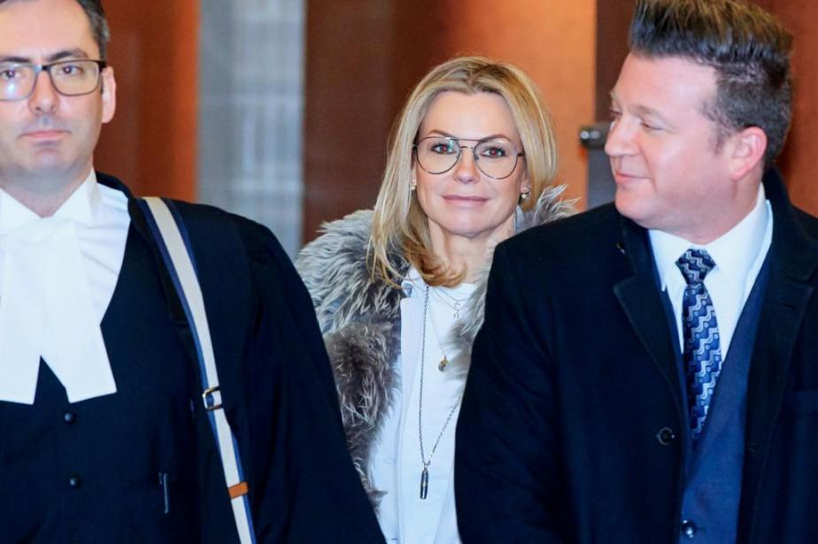Caroline Néron s'est présentée au palais de justice... (Photo Alain Roberge, La Presse)