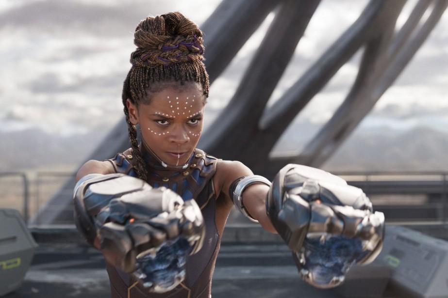 L'actrice Letitia Wright dans le film Black Panther... (PHOTO ASSOCIATED PRESS)