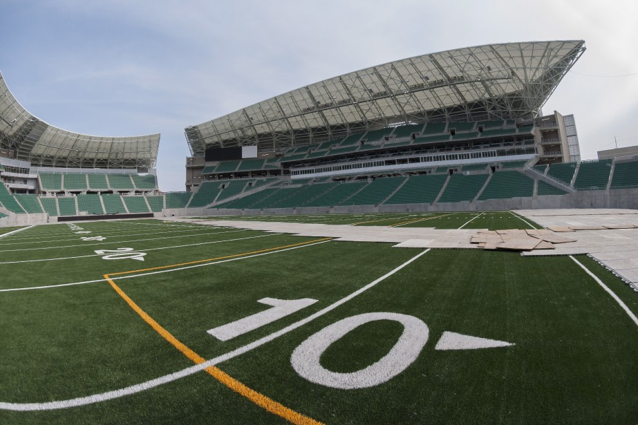 Le Mosaic Stadium, le terrain des Roughriders située... (Photo Michael Bell, ARCHIVES LA PRESSE CANADIENNE)