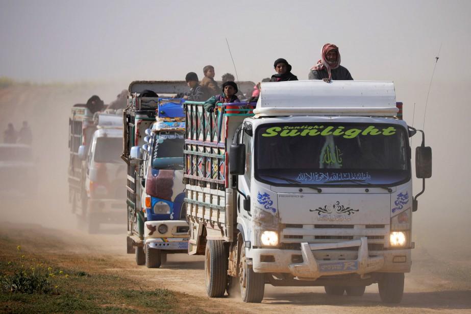 À bord de ces camions, on retrouve des... (Photo RODI SAID, REUTERS)