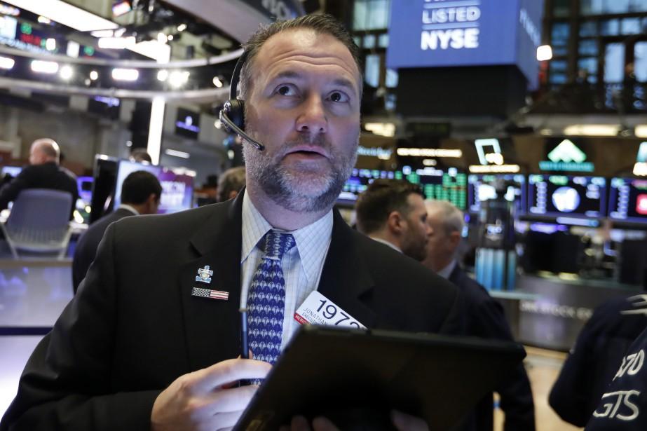 L'indice vedette de la Bourse de New York... (Photo Richard Drew, Associated Press)