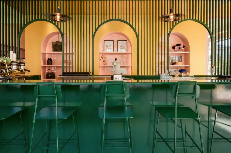 Pour les restaurants, le mobilier est fait sur... (Photo fournie par Appareil Architecture)
