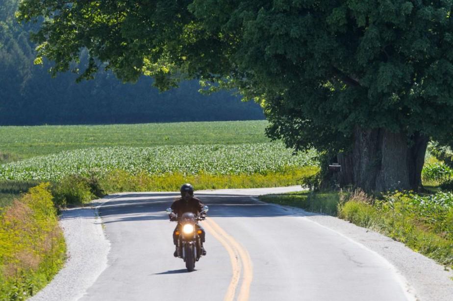 Une escapade à moto dans le secteur de... (Photo Martin Tremblay, archives La Presse)