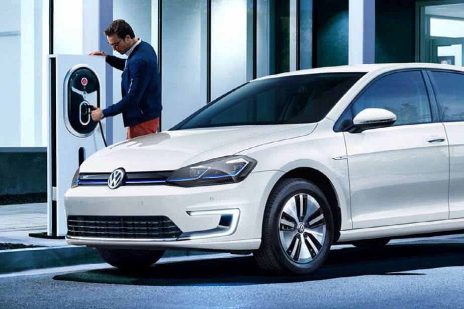La Volkswagen eGolf... (Photo fournie par Volkswagen)