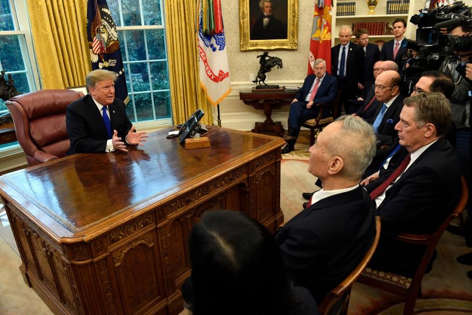 Donald Trump a rencontré le vice-président chinois Liu... (Photo Susan Walsh, Associate Press)