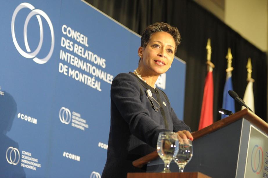 La ministre des Relations internationales et de la... (Photo JULIEN BESSET, AGENCE FRANCE-PRESSE)