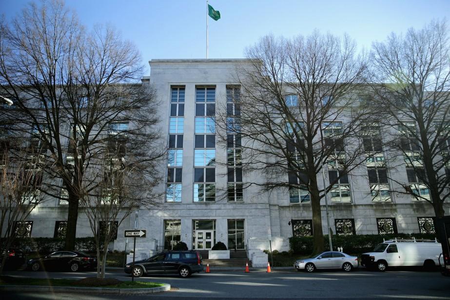 L'ambassade d'Arabie Saoudite à Washington.... (Photo CHIP SOMODEVILLA, AFP)
