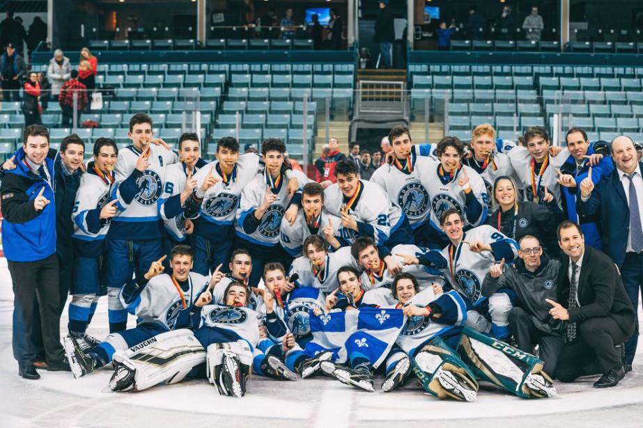 Équipe Québec, championne des Jeux du Canada en... (Photo tirée du site web de Hockey Québec)