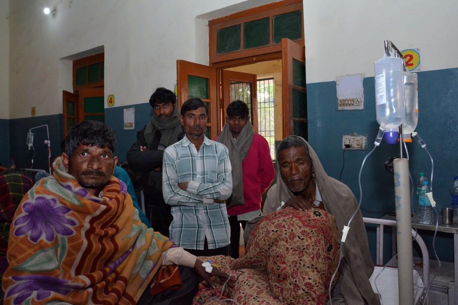Au moins 200victimes sont toujours hospitalisées après avoir... (Photo STRINGER, REUTERS)
