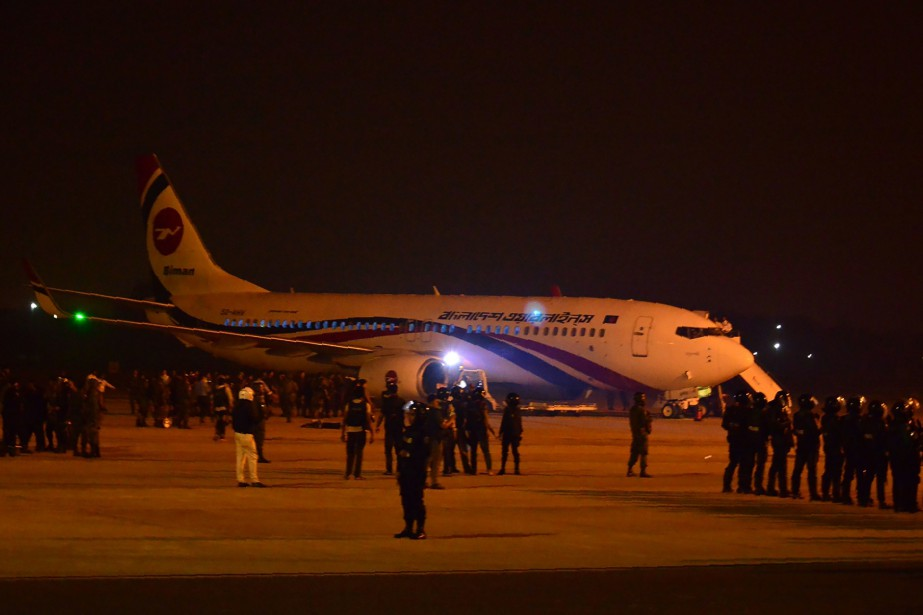 L'incident est survenu sur un vol de Biman... (Photo STR VIA AGENCE FRANCE-PRESSE)