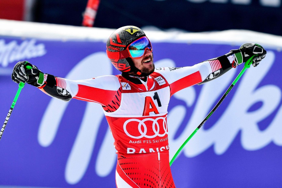 L'Autrichien Marcel Hirscher... (Photo DIMITAR DILKOFF, AFP)