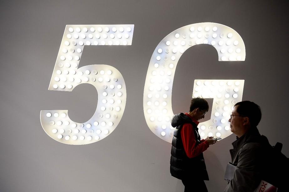 La 5G, ou 5e génération de technologie mobile,... (Photo JOSEP LAGO, AFP)