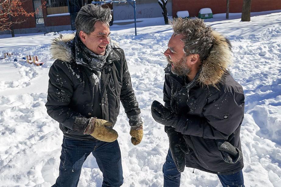 L'auteur Philippe Ducros et le metteur en scène... (Photo André Pichette, La Presse)