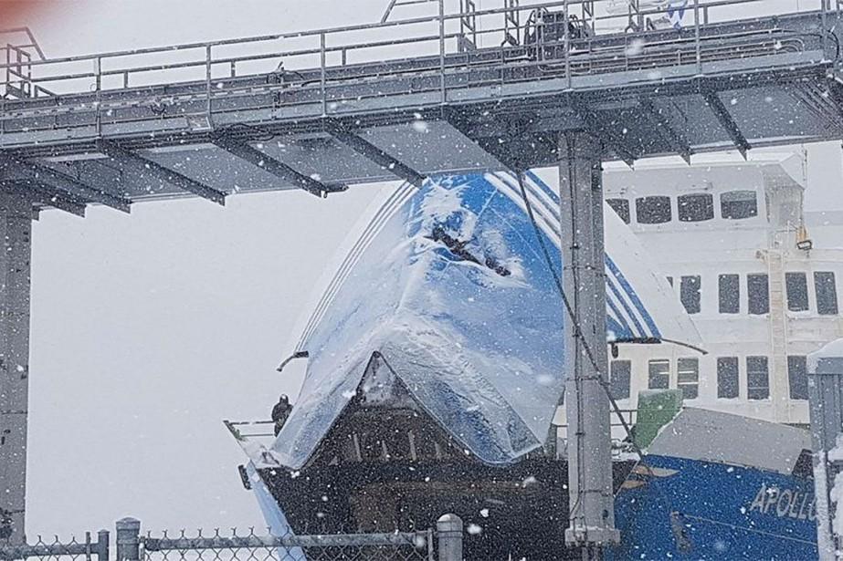 Le NM Apollo, un bateau qui navigue depuis... (PHOTO FOURNIE PAR MICHAEL LABRIE-BACON VIA LE SOLEIL)