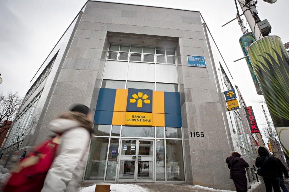 La Banque Laurentienne a annoncé mercredi un bénéfice... (PHOTO PATRICK SANFAÇON, LA PRESSE)