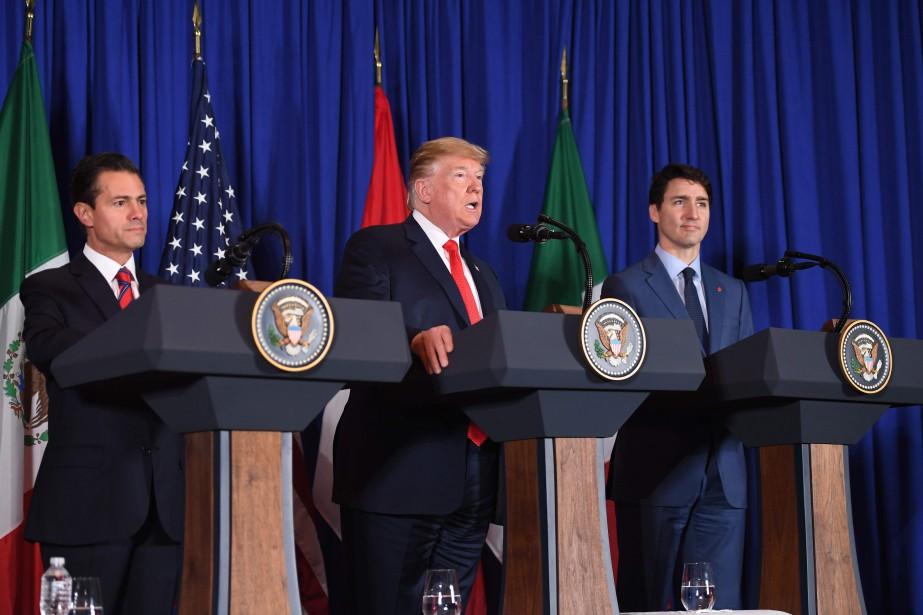 Enrique Pena Nieto, Donald Trump et Justin Trudeau,... (PHOTO SAUL LOEB, ARCHIVES AGENCE FRANCE-PRESSE)