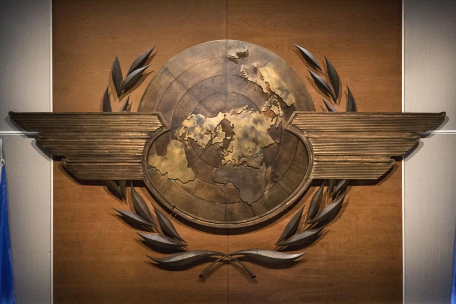 Le logo de l'Organisation de l'aviation civile internationale,... (PHOTO PC)
