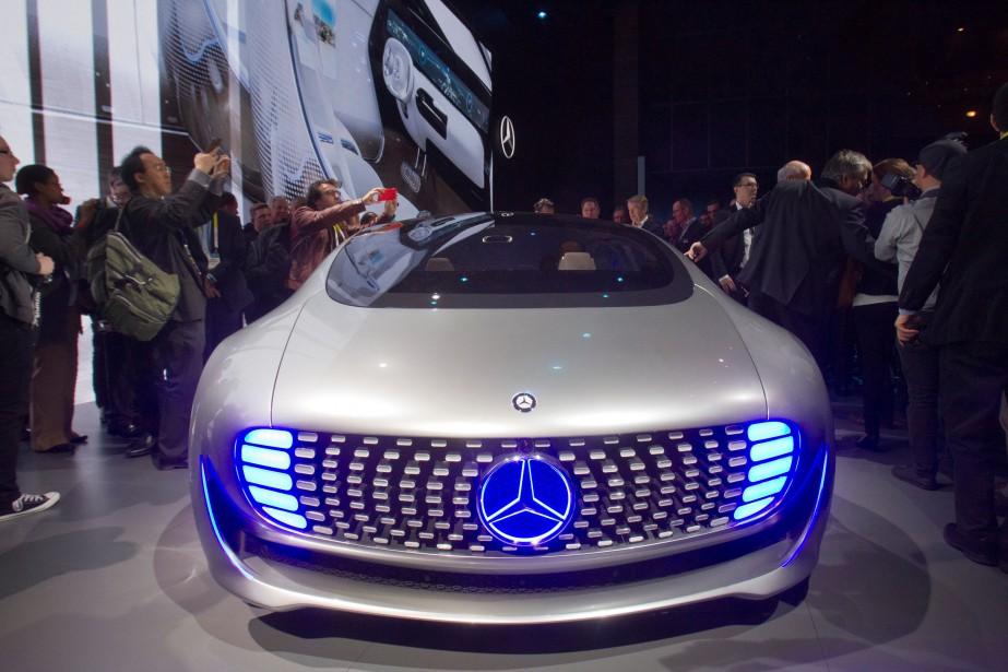 Le prototype de voiture autonome Mercedes-Benz F015 Luxury... (PHOTO STEVE MARCUS, REUTERS)