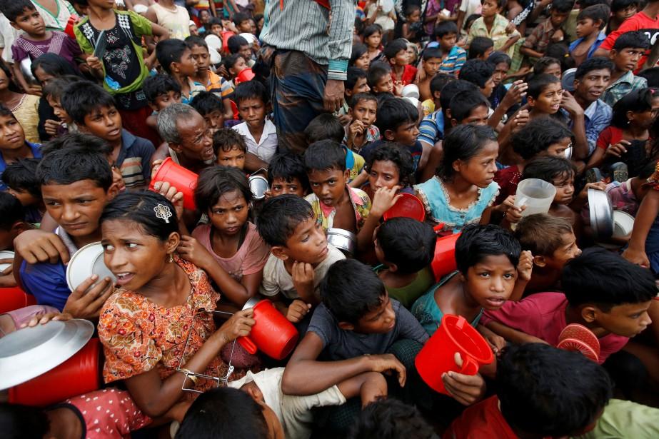 Depuis l'été 2017, environ 740000 musulmans Rohingya ayant... (PHOTO REUTERS)