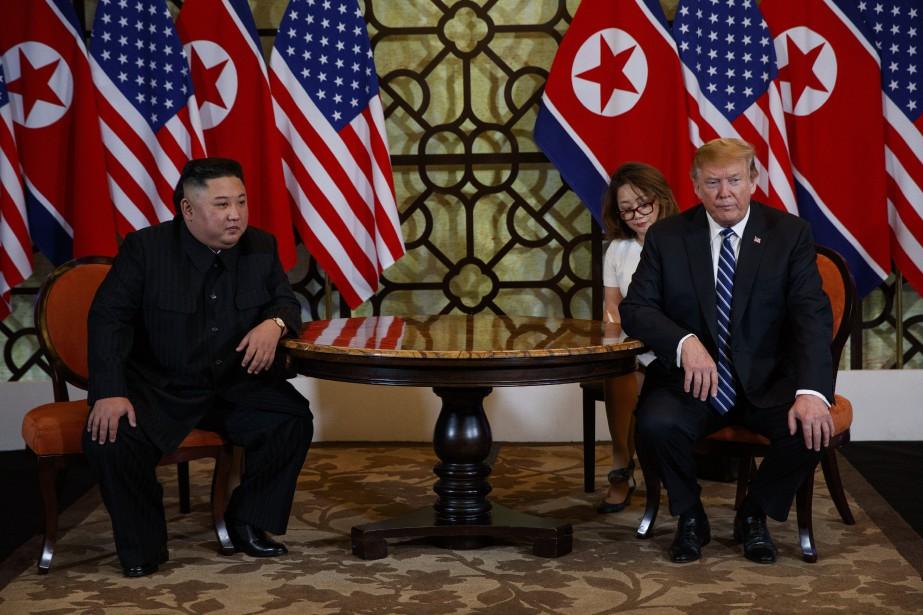 Donald Trump a demandé à Kim Jong-un de... (PHOTO EVAN VUCCI, ASSOCIATED PRESS)