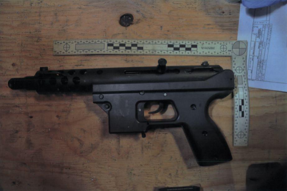 Arme fabriquée illégalement par l'usine Perfection Métal... (PHOTO DÉPOSÉE EN COUR)