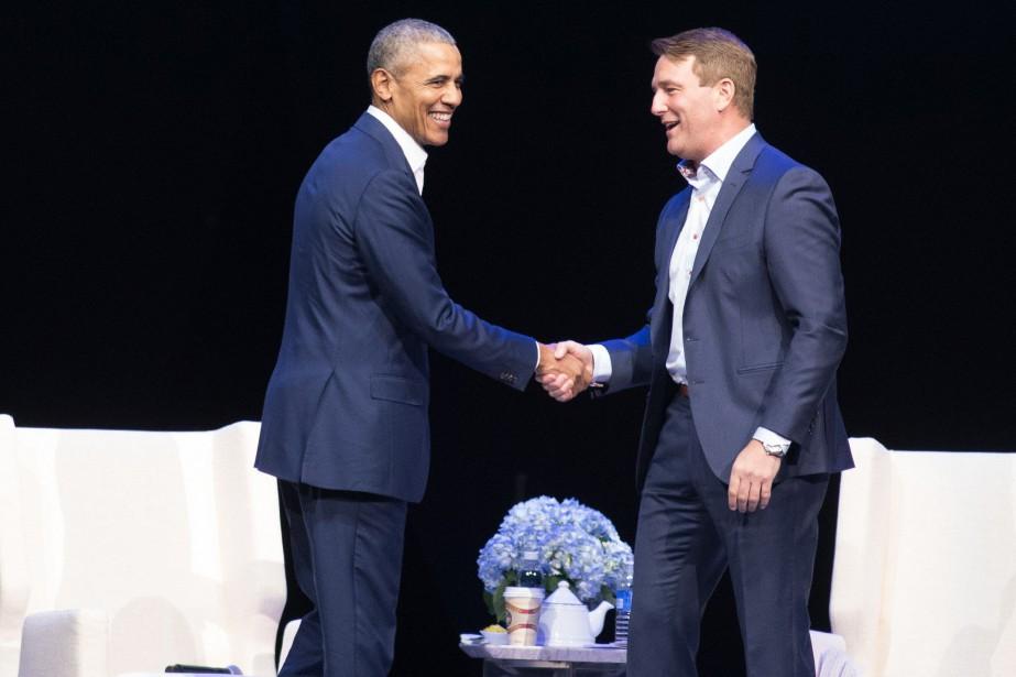 Pendant environ une heure, Barack Obama a répondu... (PHOTO PC)