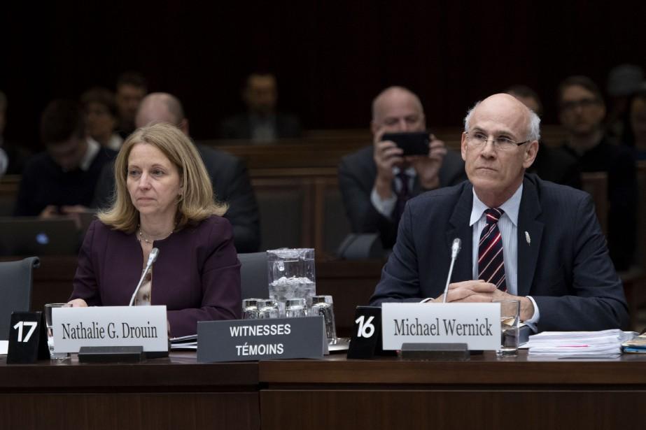 La sous-ministre à la Justice, Nathalie Drouin, et... (PHOTO JUSTIN TANG, LA PRESSE CANADIENNE)