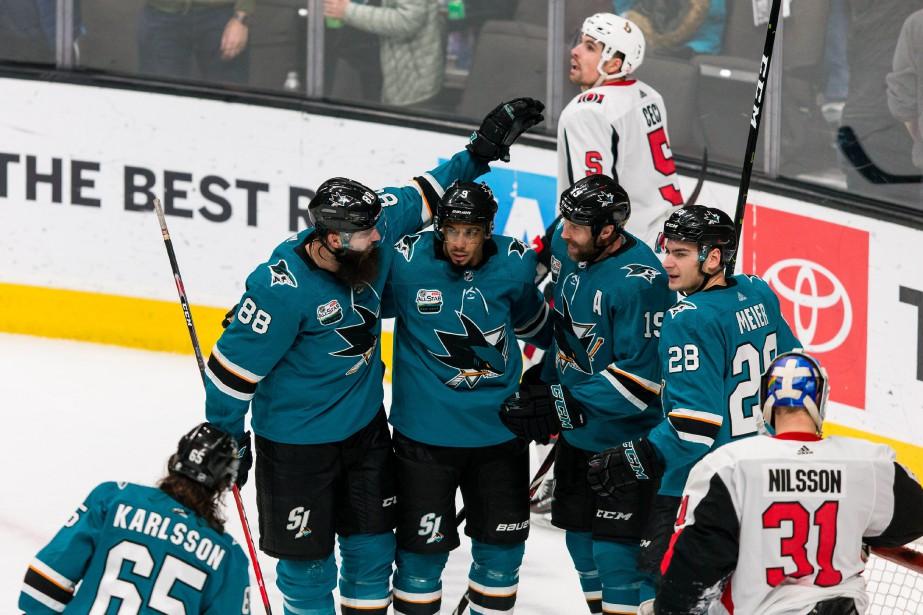 Les Sharks, que le Canadien affronte ce soir... (PHOTO JOHN HEFTI, ARCHIVES USA TODAY SPORTS)