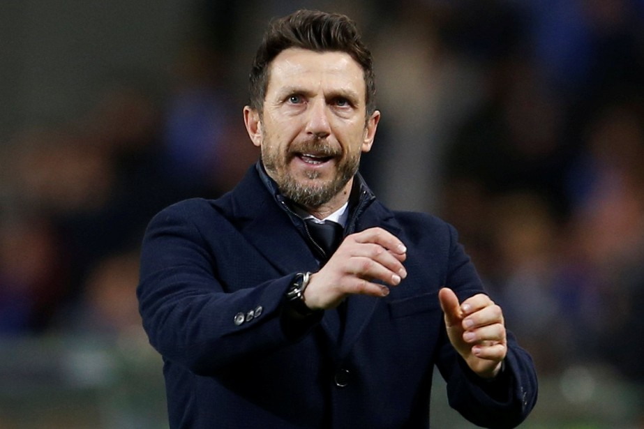 L'entraîneur de l'AS Rome, Eusebio Di Francesco.... (PHOTO PEDRO NUNES, REUTERS)
