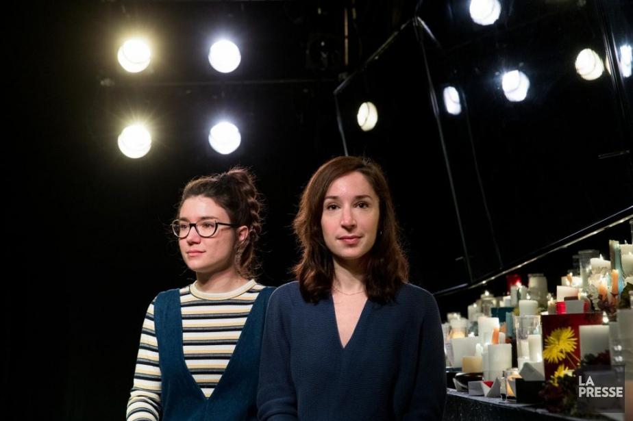 Marie-Ève Milot et Marie-Claude St-Laurent signent la pièce... (PHOTO MARCO CAMPANOZZI, LA PRESSE)