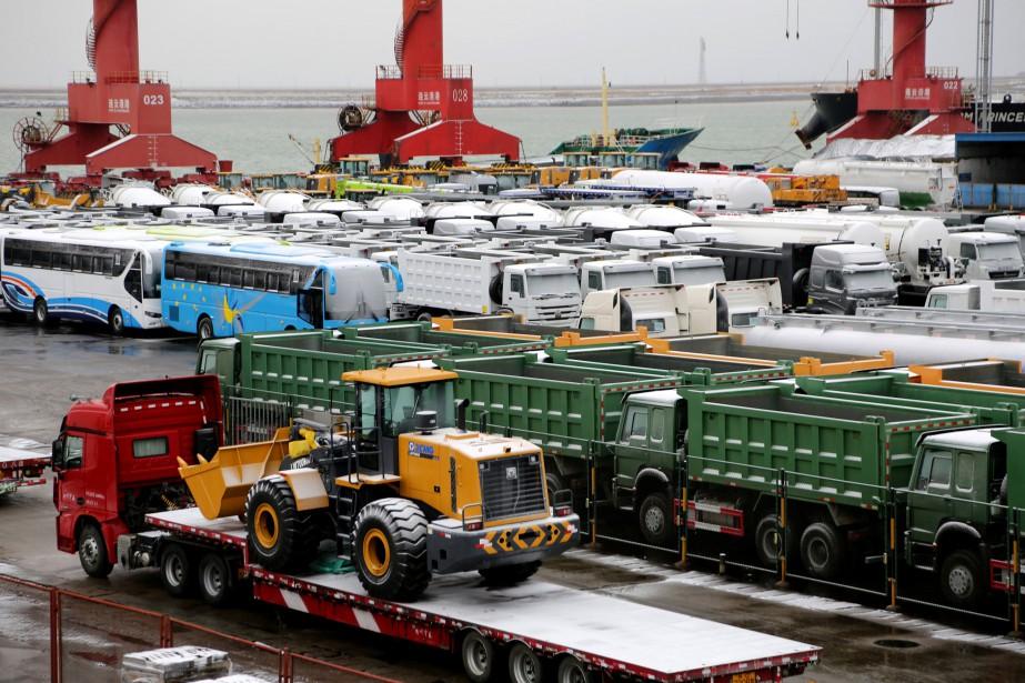 La Chine a enregistré en 2018 sa croissance... (PHOTO CHINA STRINGER NETWORK, REUTERS)