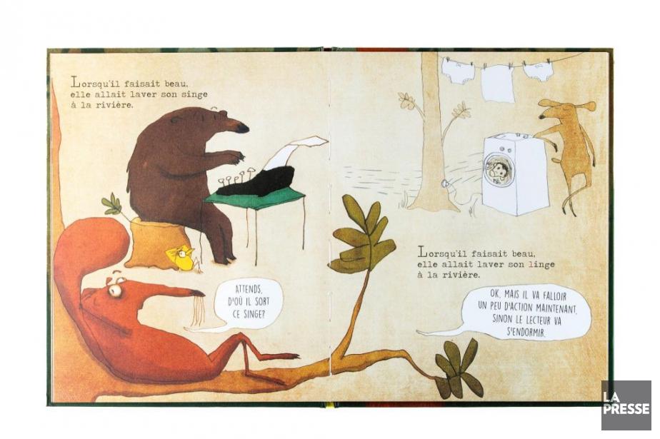 La petite bûche, texte de Michaël Escoffier, illustrations... (PHOTO EDOUARD PLANTE-FRÉCHETTE, LA PRESSE)