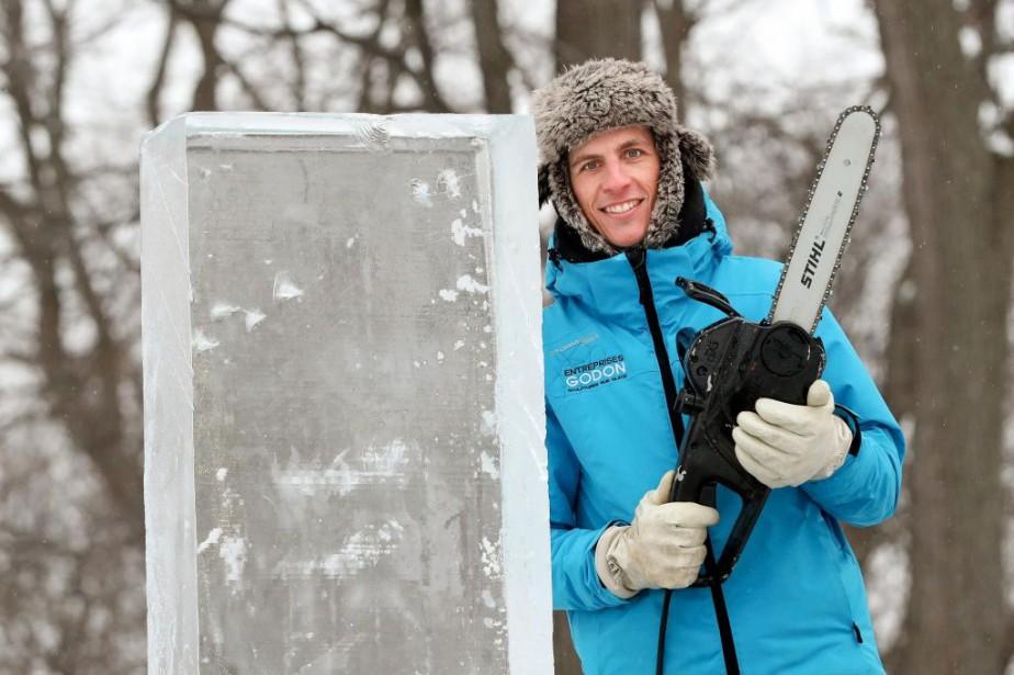 Nicolas Godon à la Fête des neiges, le... (PHOTO ROBERT SKINNER, LA PRESSE)