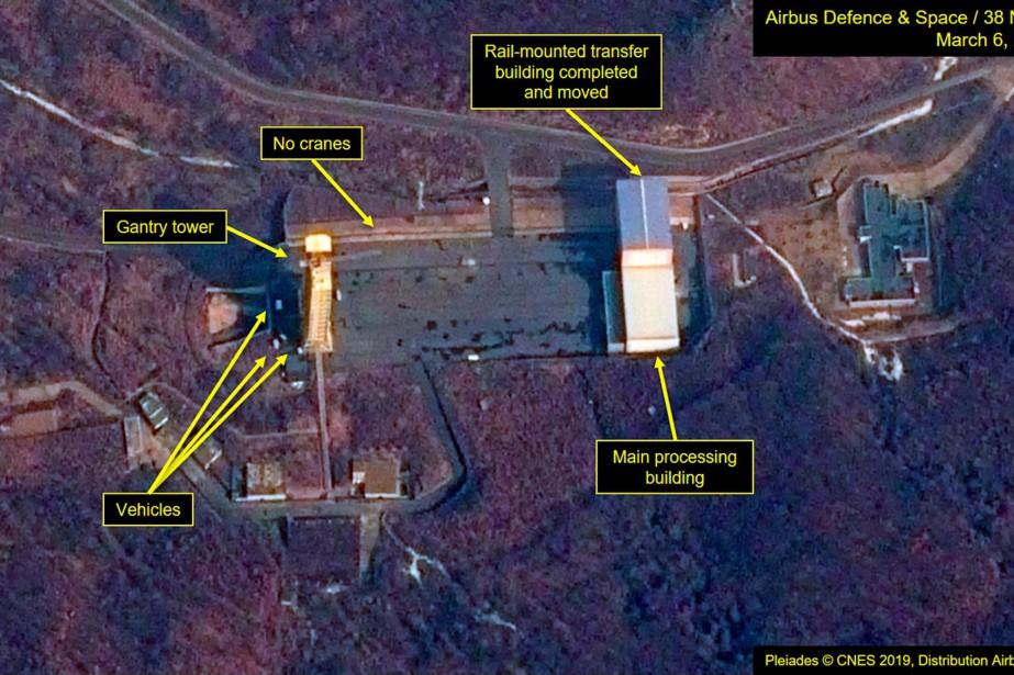 Cette nouvelle image satellite diffusée jeudi laisse croire... (PHOTO AIRBUS DEFENCE & SPACE AND 38 NORTH VIA AP)