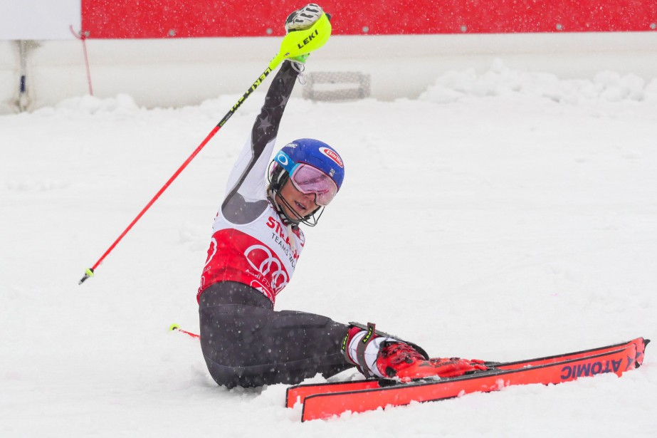 Mikaela Shiffrin a remporté sa 58e victoire en Coupe... (PHOTO JOE KLAMAR, AGENCE FRANCE-PRESSE)