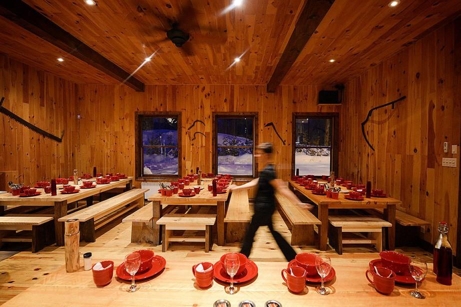 La salle à manger de la Sucrerie du... (PHOTO BERNARD BRAULT, ARCHIVES LA PRESSE)