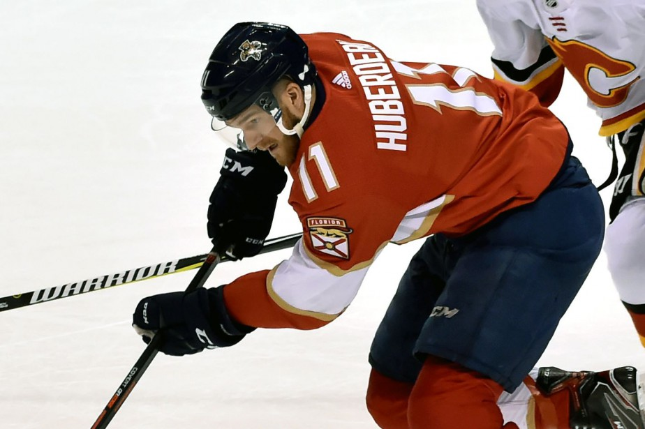 Jonathan Huberdeau a récolté neuf points en quatre... (PHOTO STEVE MITCHELL, USA TODAY SPORTS)