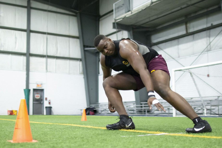 Maurice Simba espère qu'une équipe de la NFL... (PHOTO DAVID BOILY LA PRESSE)