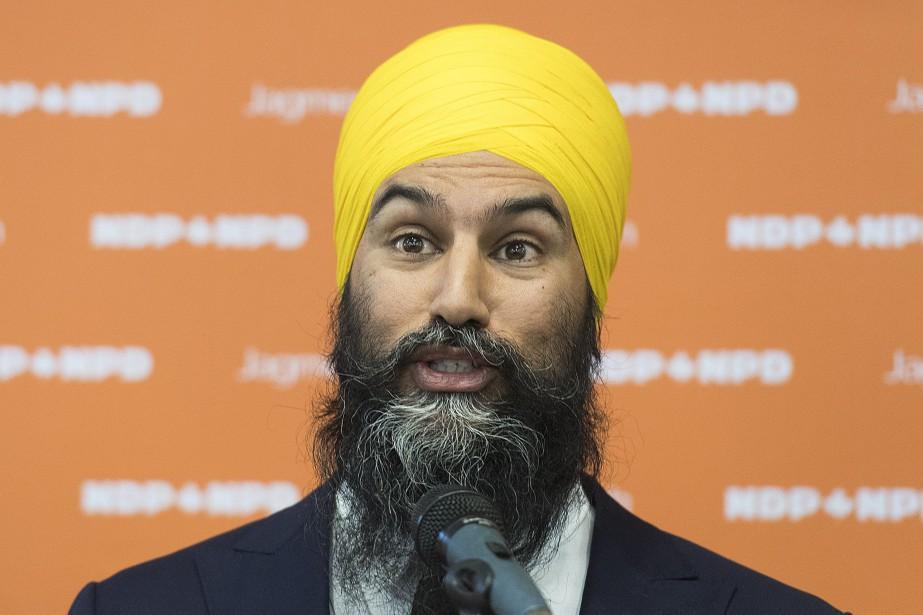 Le chef du NPD Jagmeet Singh (photo) et... (PHOTO GRAHAM HUGHES, LA PRESSE CANADIENNE)