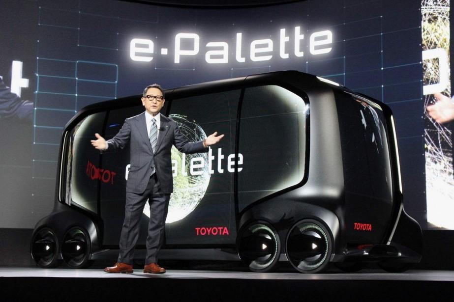 Le PDG de Toyota, Akio Toyoda, a présenté... (PHOTO TOYOTA)