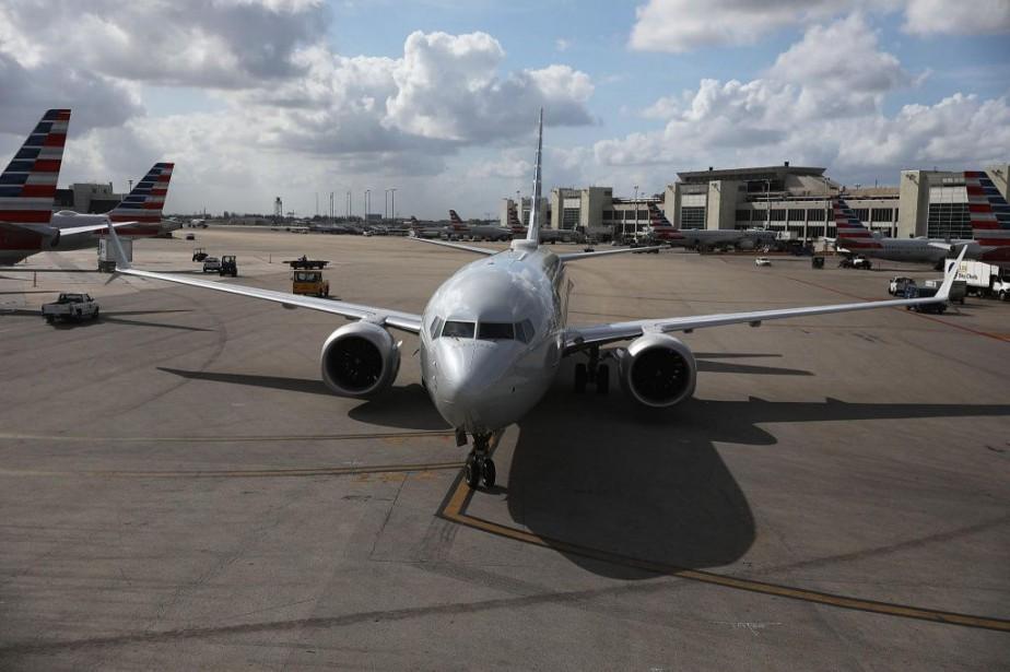 Un Boeing 737 MAX 8 à l'aéroport de... (PHOTO AFP)