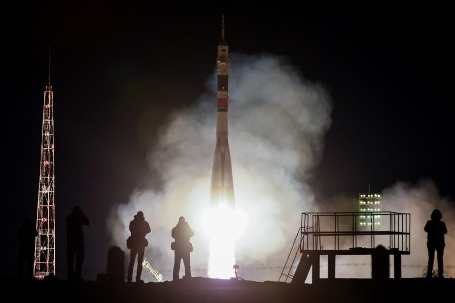 La fusée Soyouz a décollé sans incident du... (PHOTO KIRILL KUDRYAVTSEV, AGENCE FRANCE-PRESSE)