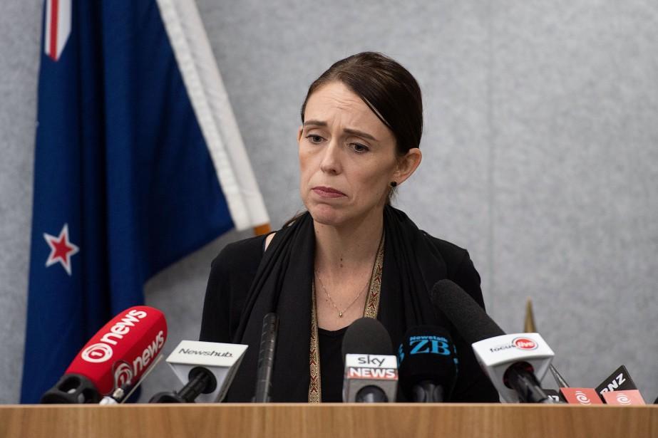 La première ministre Jacinda Ardern... (PHOTO MARTY MELVILLE, AFP)