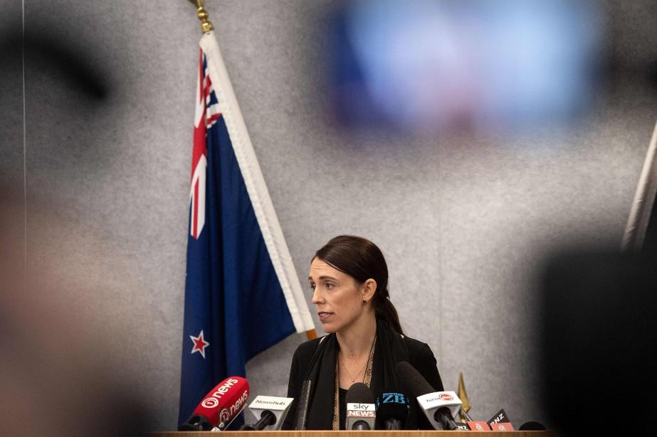 La première ministre néo-zélandaise, Jacinda Ardern... (PHOTO MARTY MELVILLE, AFP)