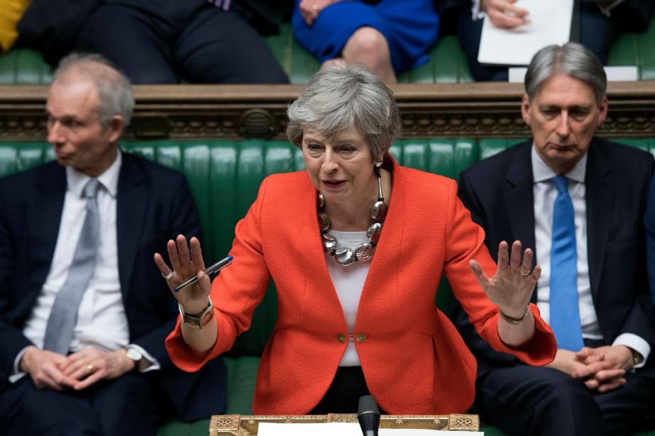 Theresa May tente de convaincre les eurosceptiques purs... (PHOTO JESSICA TAYLOR, ARCHIVES AP)