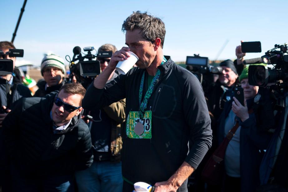 Beto O'Rourke a participé samedi à la course... (PHOTO AFP)